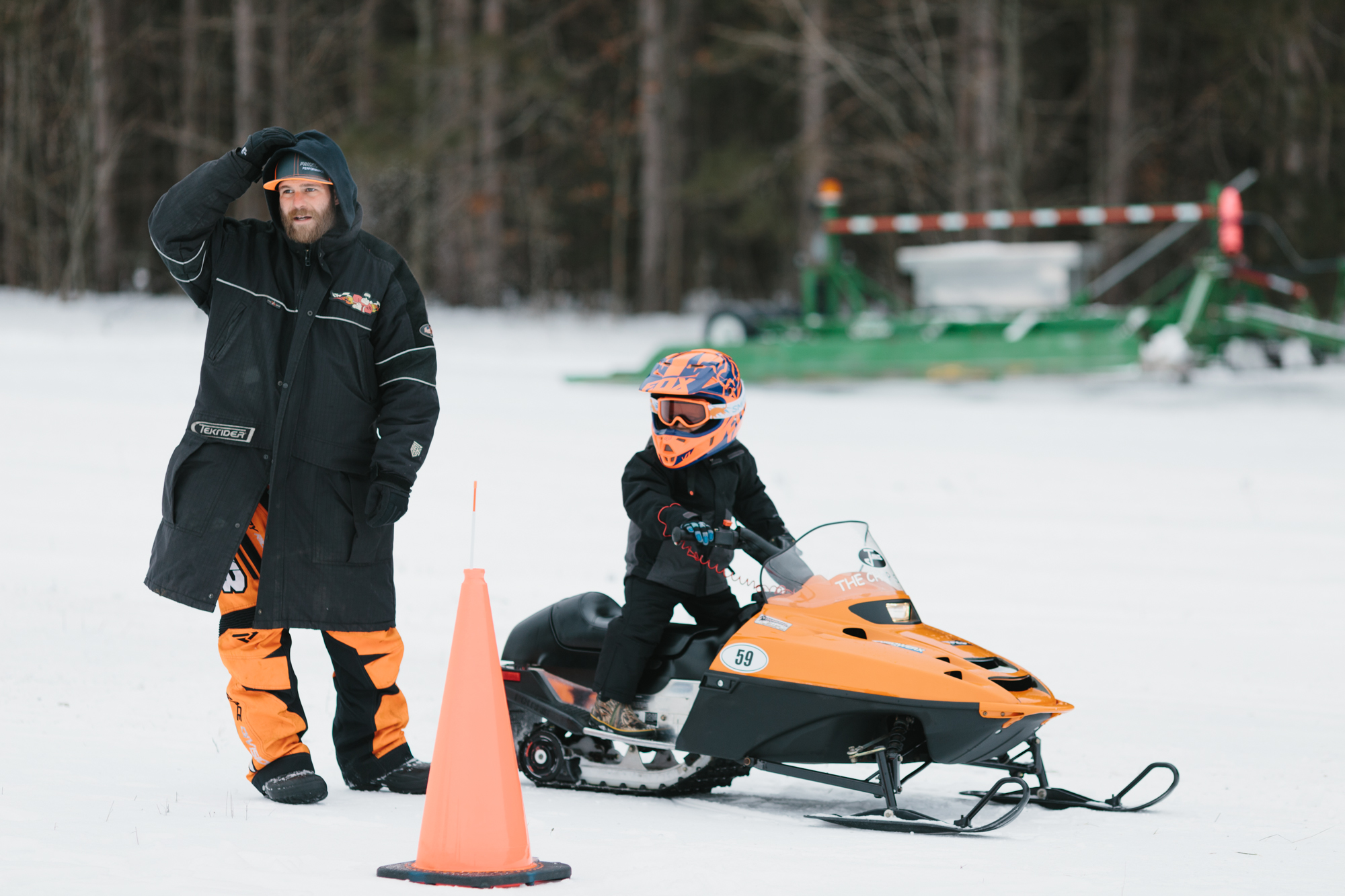 Northern Michigan Snowmobile Race Empire Airport Leelanau County